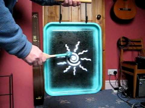gong made from a roasting pan