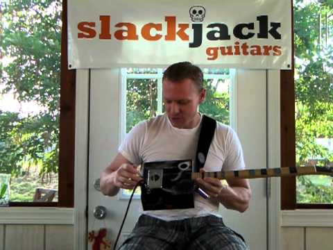 SlackJackGuitars Voodoo Child Artist Series Cigar Box Guitar.MP4