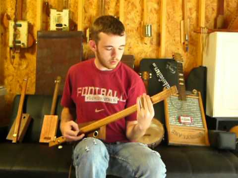 Crocker 3 string Rocker guitar demo by Ragpicker Allen