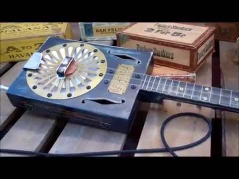 3 String Resonator Cigar Box Guitars & Old Lowe Cones