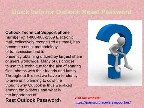 For Enquiry @ 1866-866-2369 for Outlook forget password