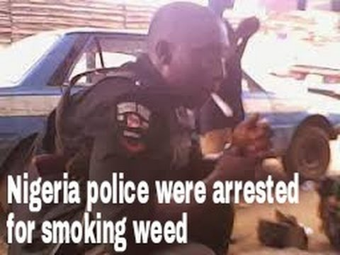 Nigeria police cash smoking weed by comedian Cele
