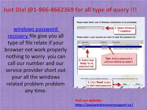 Get Help @ 1866*866*2369 for Windows password Recovery