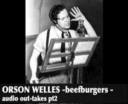 Orson Welles complaining about bad copy during a commercial Part II