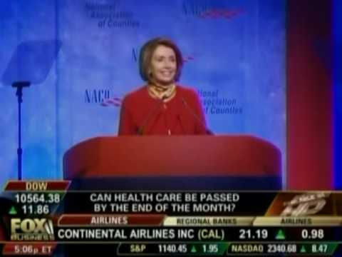 Pelosi: we have to pass the health care bill so that you can find out what is in it