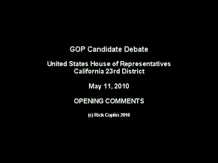 Candidate Debate: Part 1 - Opening Statements