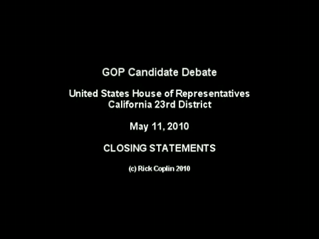 Candidate Debate: Part 8 - Closing Statements