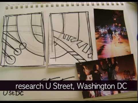 "Development of a painting- ""U Street"" by Kit Parker Cali"