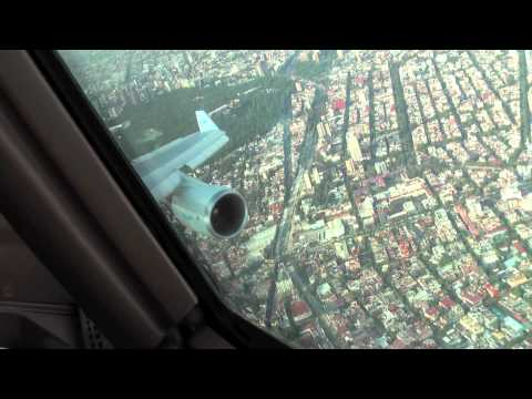 approach and landing at mexico city