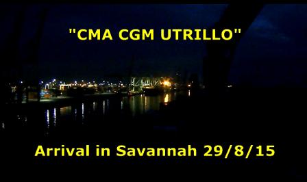 CMA CGM Utrillo - Savannah Arrival