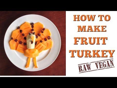 How to Make a Raw Vegan Thanksgiving Fruit Turkey
