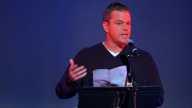 "Matt Damon reads from Howard Zinn's speech ""The Problem is Civil Obedience"" (November 1970)"