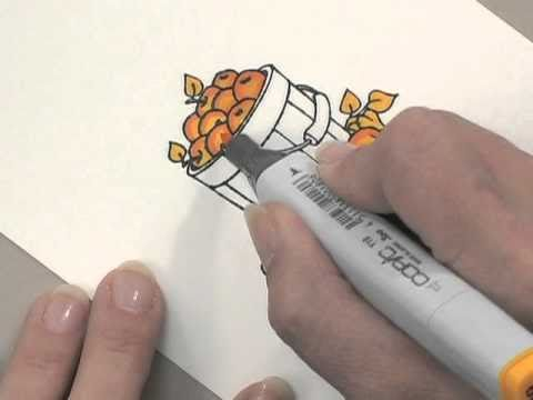 Simple Copic Coloring - Part 1 - by Gina K. Designs