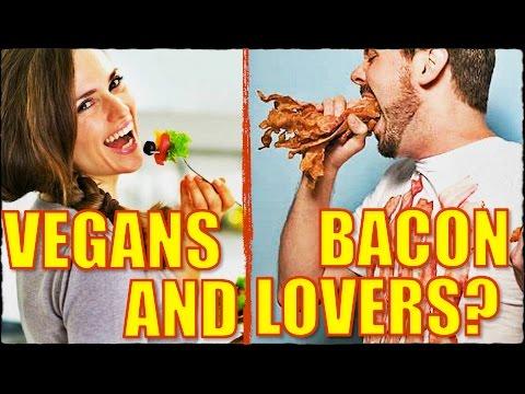 BACON Lovers & VEGANS Unite!?   BuzzFeed Reaction