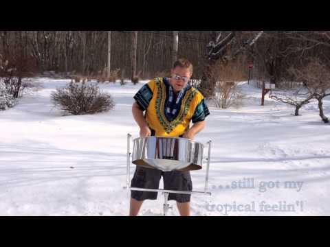 Walking In A Winter Wonderland - Steel Pan in the Snow!
