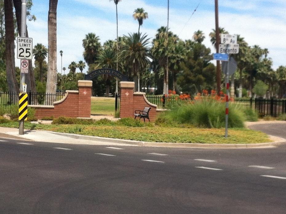 New fence at Encanto Entrada