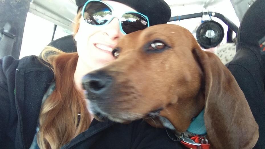 Me + Basil Hayden the Redbone Coonhound