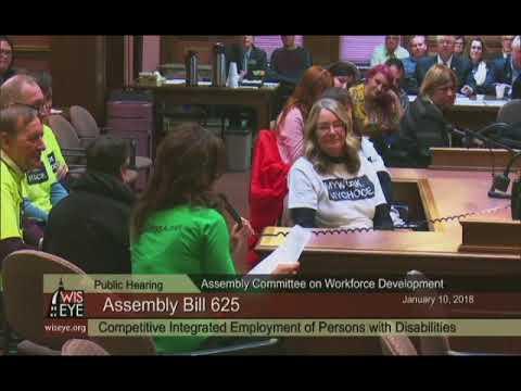 Employment First Assembly Bill 625 Hearing