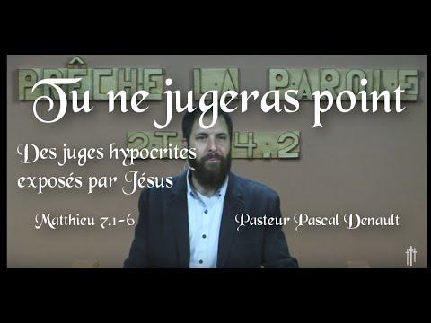 Tu ne jugeras point – ou juger le mal ?Matthieu 7.1-6