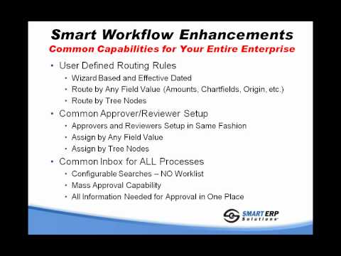 Smart Workflow for PeopleSoft from Smart ERP Solutions-HD