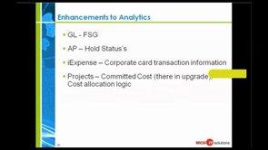 Webinar: Oracle Financial Analytics Case Study featuring McDonalds - Part 3