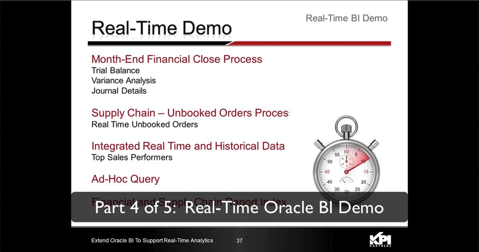 PT 4: Real-Time Oracle BI Demo [Extend Oracle BI To Support Real-Time Analytics]