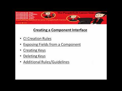 PeopleSoft Component Interface Programmers Guide