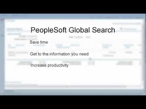 PeopleSoft Global Search - Financials and Supply Chain Management