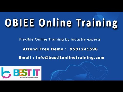 OBIEE Online Training in India | BEST IT | Part1 - HD
