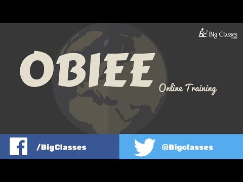 OBIEE Online Training | Oracle BI Tutorial for Beginners
