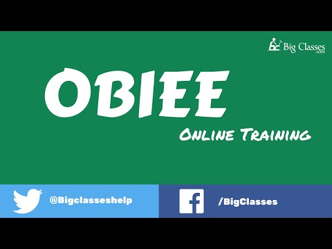 OBIEE Online Training | Oracle BI Training Tutorials