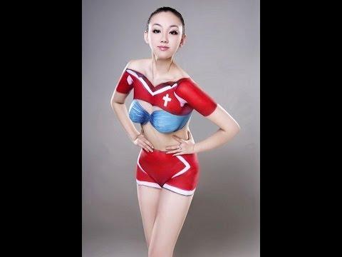 Beautiful koreean bodypaint picture compilation part 1
