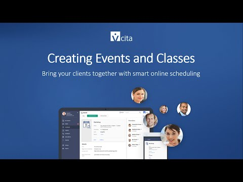 Creating Events and Classes with vCita