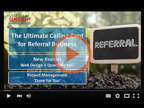 VIP Webinar | The Ultimate Calling Card for Referral Business | June 9, 2016