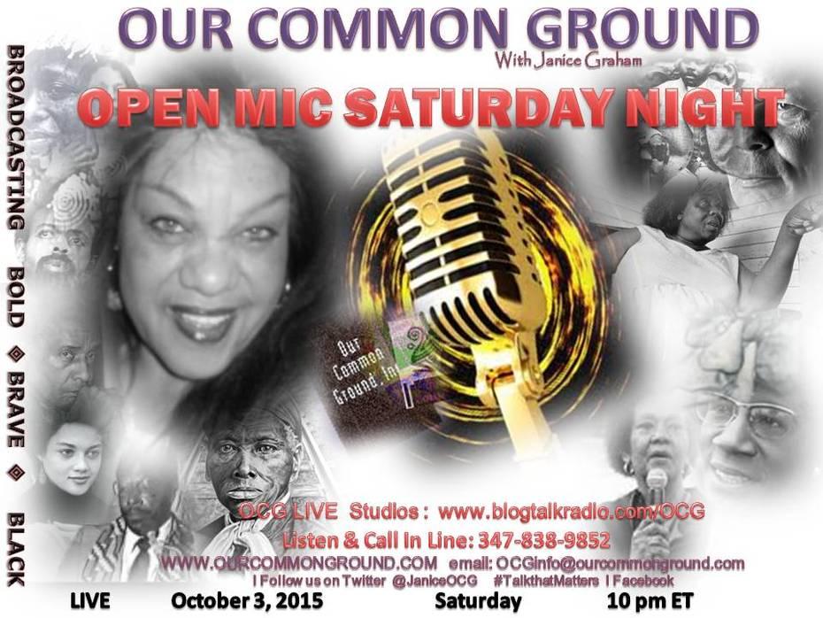 10-03 Open Mic Saturday Night