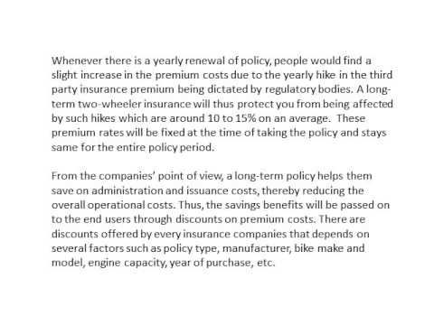 Why choose a long term bike insurance policy