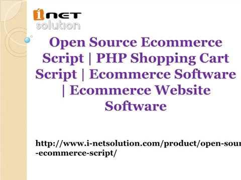 Open Source Ecommerce Script   Ecommerce Software