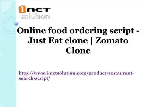 Online food ordering script - Just Eat clone | Zomato Clone
