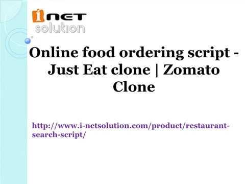 Online food ordering script - Just Eat clone | Zomato Clone