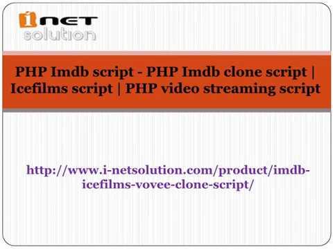 PHP Imdb script - PHP Imdb clone script | Icefilms script | PHP video streaming script