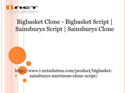 Bigbasket Script  Sainsburys Script