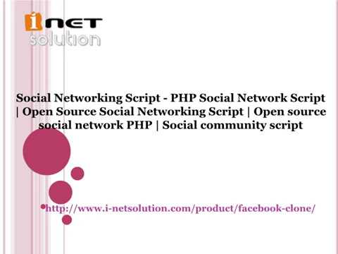 Open Source Social Networking Script  Open source social network PHP