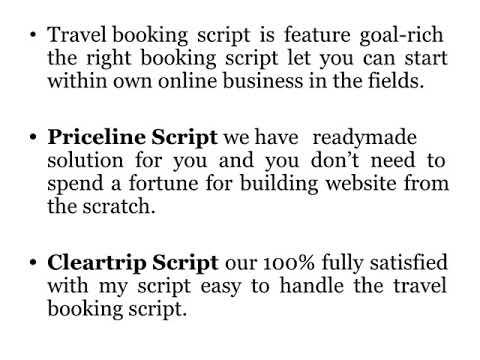 Cleartrip Clone   Cleartrip Script   Orbitz Script   Priceline Script