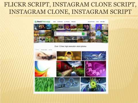 Flickr Script   Instagram Clone script   Instagram Clone   Instagram Script