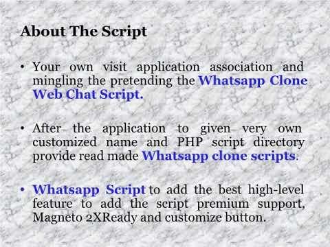 Whatsapp Clone Script   Whatsapp Clone   Whatsapp Script   Whatsapp Clone Web Chat Script