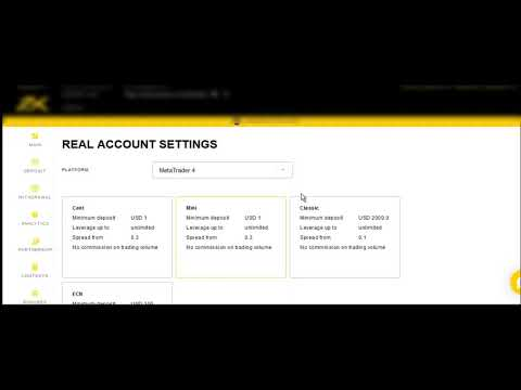 Procedure of opening trading account with Exness