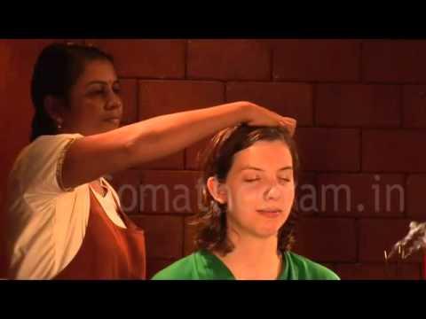 Ayurvedic Head Massage :Somatheeram Resort Kerala