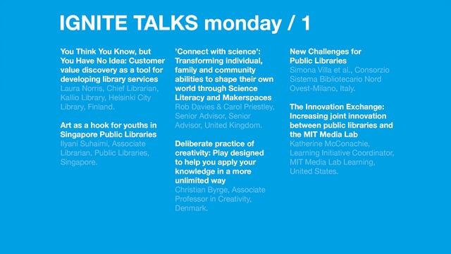 Monday Morning Ignite Talks /Next 2017