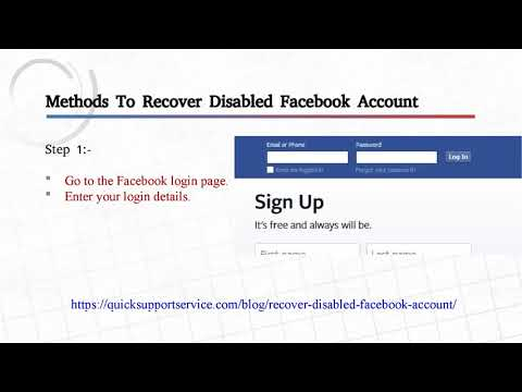 Recover Disabled Facebook Account 2018