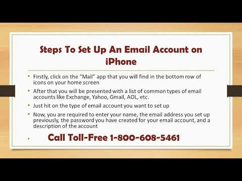 How to Set Up An Email Account on iPhone | Call 1-800-608-5461 Toll-Free
